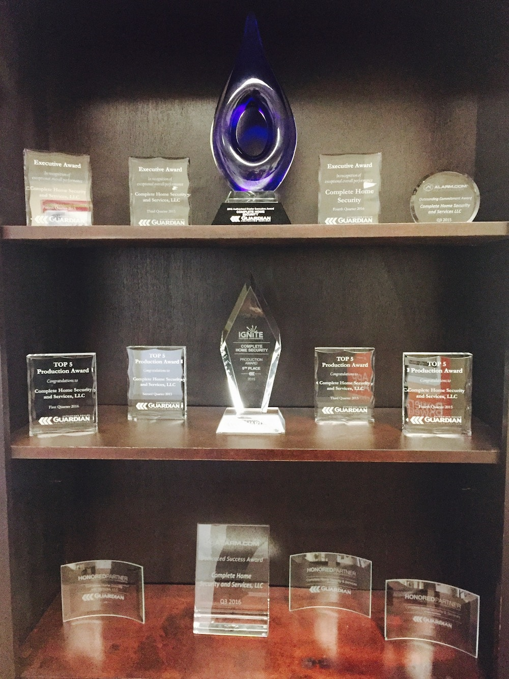 Awards Complete Home Security and Services has won over the years