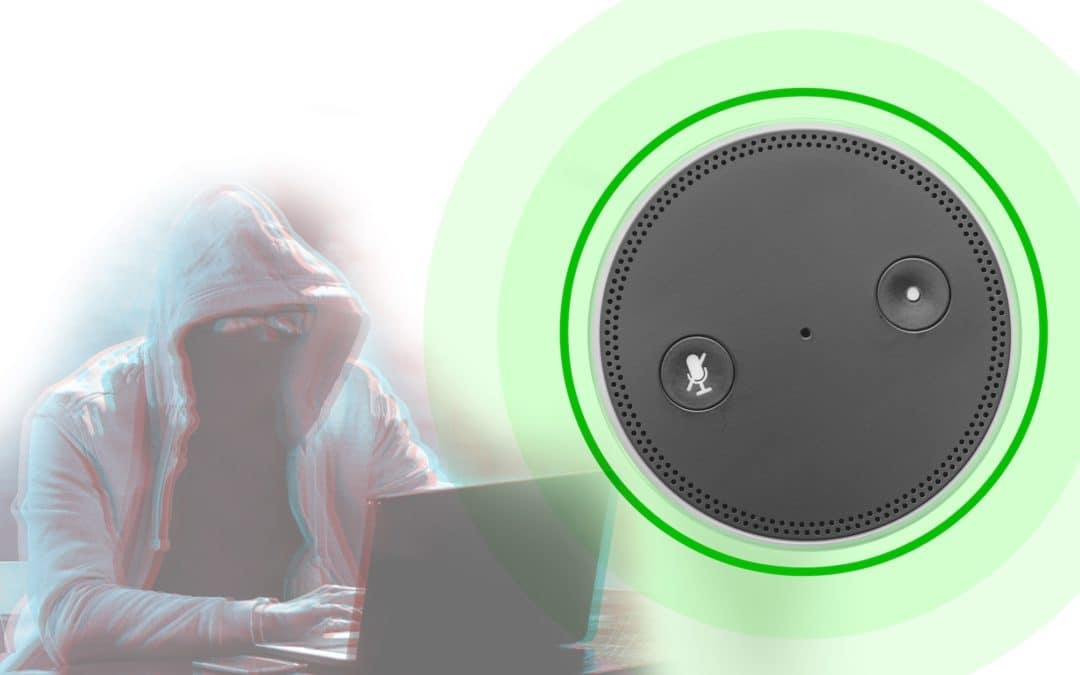 An image of a smart home device with voice assistant - smart home security in Fresno and Clovis